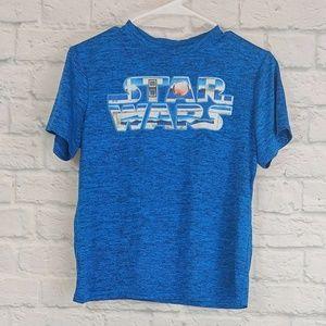 Star Wars   Blue Theme Star Wars Logo Short Sleeve
